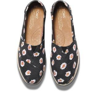 TOMS Daisy Print Women's Classic Sneakers Black